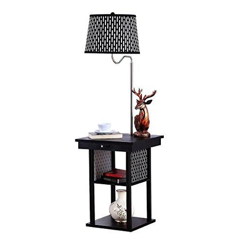 Lampadaires Simple salon moderne en fer forgé stockage table basse lampe de table verticale Européenne chambre chevet lampe de chevet Protection des yeux LampadaireA+