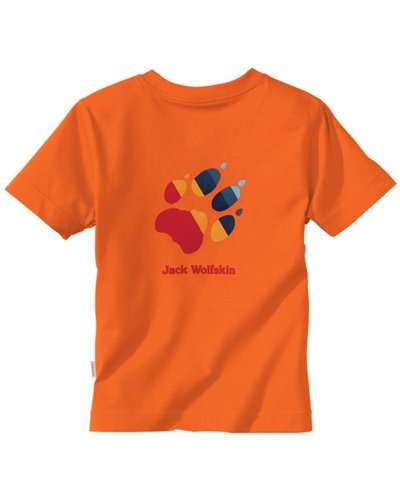 Jack Wolfskin Kinder Shirt Kids Paw T dark orange