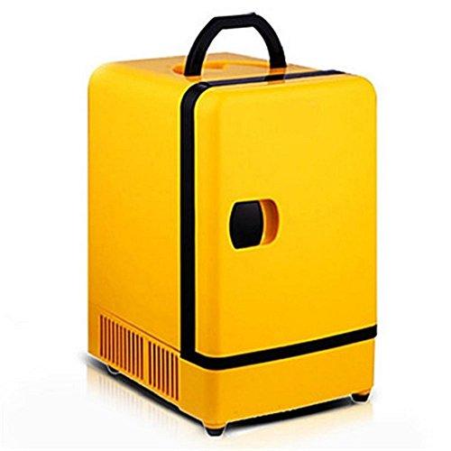 wenrit Refrigerador Vertical del Mini Coche Refrigeración Vertical 7L del Uso del refrigerador del Mini refrigerador Caliente y frío del Coche