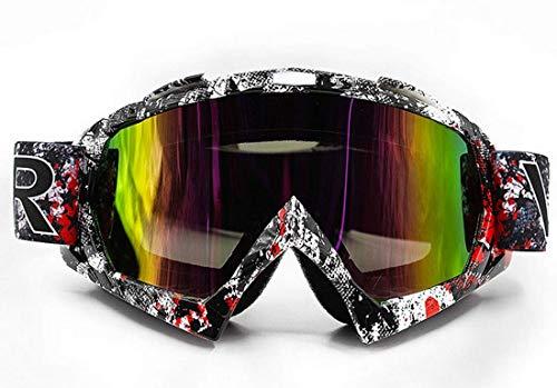 Vemar Lunettes de motocross Enduro Ski Snowboard coupe-vent anti-poussière anti-rayures Lente Colorata Modello 1