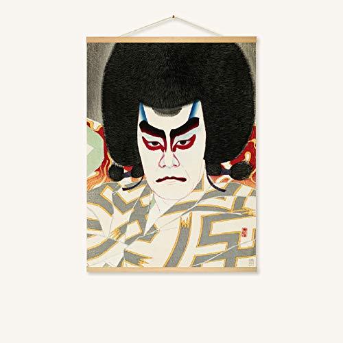 mmzki Hängende Malerei Japanisches Restaurant Wandmalerei-Rollenmalerei 228-B 50 * 40