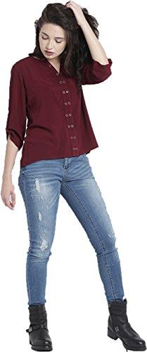 J B Fashion Women's Plain Regular Fit Top (D NO-84_M_Maroon)