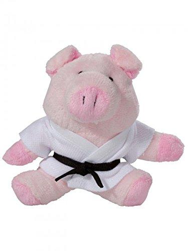 KWON PIG BETTY PLÜSCH Schlüsselanhäger Mini-Plüschtiere Schein Glücksschwein Glücksbringer Karate Judo Kickboxen Budo Kampfsport Ju Jutsu TKD Taekwonde BJJ Aikido Kick Boxen