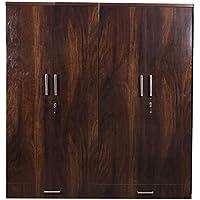 Caspian Furnitures Junglewood Textured 4 Door Wardrobe