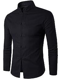 YL - Camiseta - cuello mao - para hombre