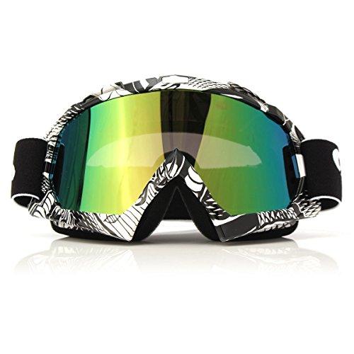 Occhiali Motocross,CAMTOA Antigraffio Antivento Anti-UV Goggles Collassabile,Spugne