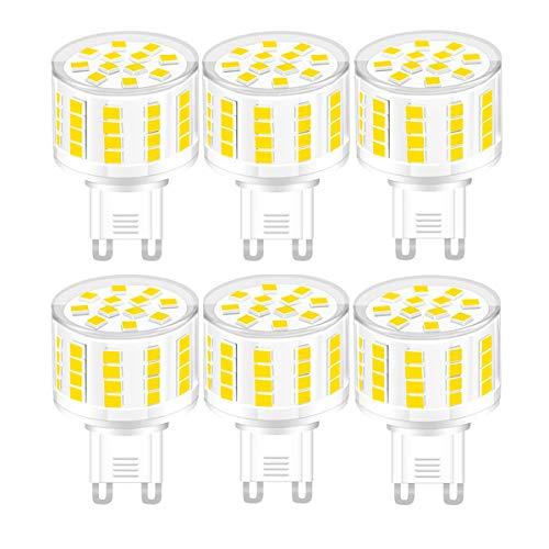 YWX G9 Lampadina LED,Dimmerabile Bianco Naturale 4000k G9 5W Equivalente 45W Lampadine Alogene No Flicker Lampada LED 360° Angolo a Fascio AC 220-240V 6 Pezzi