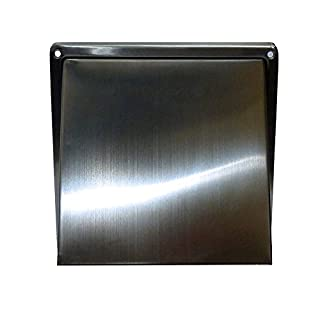 Airflow 9041230 125mm Square Stainless Steel Cowl with Gravity Flap