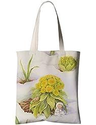 Sac à bandoulière en fleur de style japonais Sac à provisions de voyage Un pot de fleur