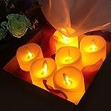 OMGAI 6pcs LED Swing Docht Kerzen mit Timer-Fernbedienung, Dimmbare Flammenlose Batteriebetriebene Elektrische Kerze mit Flackernder Funktion für die Inneneinrichtung