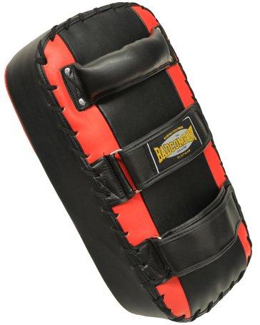 Premium PU Arm-Makiwara schwarz / rot - Schlagpolster / Kicking Pad / Thai Pad