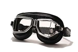 Lunettes de moto Climax 513SNP Peau Génuine Noir CE