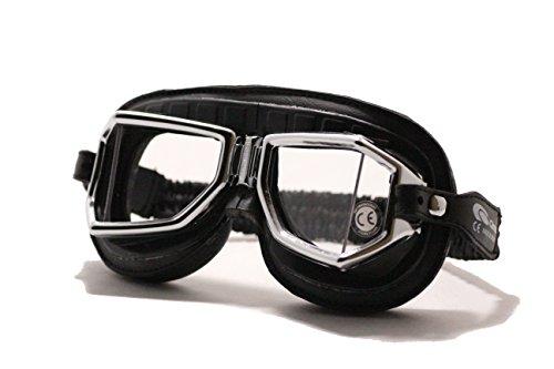 Climax Brille 513 SNP chrom Motorrad Brille