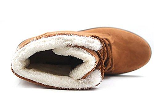 Wicky Ls Ladies Winter Worker Boots Outdoor Stivaletti Caldi Foderati Calze Sneaker Kaki