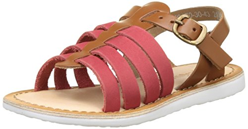 Kickers Sparta, Sandales Bout Ouvert Fille Rouge (Rouge Camel)