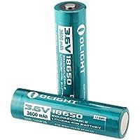 Olight® Piles Rechargeables 18650 3600mAh Batterie Lithium-ion 3.6V 12.9Wh Accumulateur, Compatile avec Olight M22 M21x M20s M23j S2 S20r S30RII M18 M2X-UT Sr51 Tm26 Tm15 Tm11 P12 Srt7 Srt6 P25 Ec25 Tk75 Pd35 Pd32 Tk22 (2 Piles)