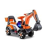 LINGLING-Auto giocattolo Escavatore per Bambini Bulldozer Engineering Car Toy Model Car per Bambini (Colore : Orange, Dimensioni : L.)