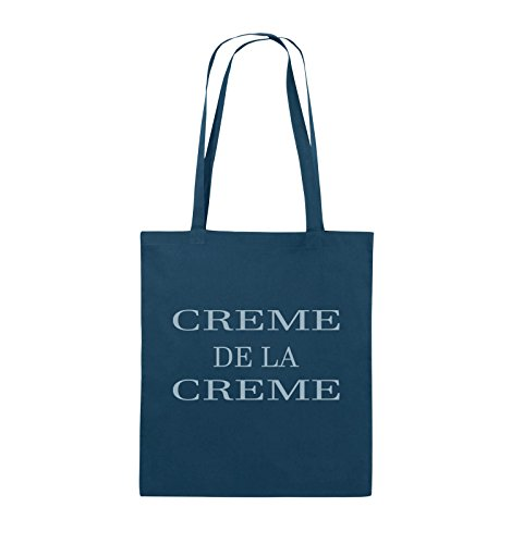 Buste Comedy - Creme De La Creme - Borsa In Juta - Manico Lungo - 38x42cm - Colore: Nero / Argento Navy / Blu Ghiaccio