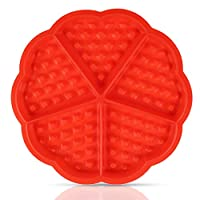 YOYUSH Waffle Baking Mould Muffin Mould, Bundt Pan, High Quality Red Non-Stick Silicone Baking Tool