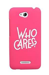 KolorEdge Back Cover For HTC Desire 616 - Pink (2879-Ke15090HTC616Pink3D)