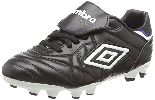 Umbro Speciali Eternal Premier Hg-Jnr, Chaussures de Football Garçon Noir (Dju/Black/White/Clematis Blue)