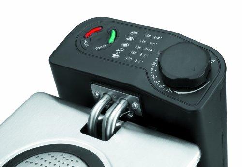Lacor 69170 - Freidora eléctrica doble 3.5 x 2 litros, 4000 W, gris