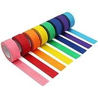 Cinta de carrocero colorida, cinta decorativa de colores para manualidades y manualidades, etiquetado o codificación – suministros de arte para niños – cinta de carrocero de 2,5 cm