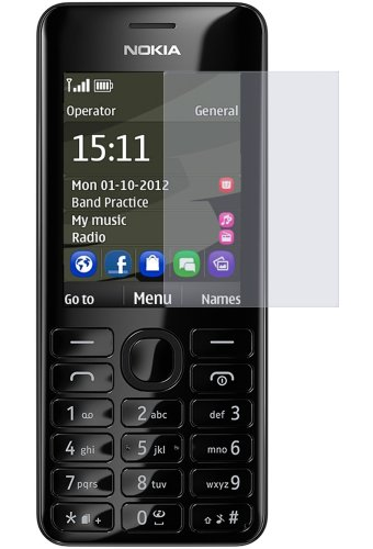 dipos I 2X Schutzfolie matt passend für Nokia Asha 206 Dual SIM Folie Displayschutzfolie