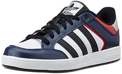 adidas Originals Men's Varial Low Blue, Black and Red Leather Skateboarding Shoes - 9 UK