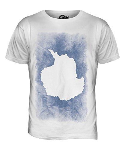 CandyMix Antarktika Verblichen Flagge Herren T Shirt Weiß