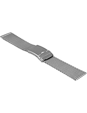 Uhrenarmband Milanaise / Mesh, mit Faltschließe von Vollmer, 99460H4, 20 mm