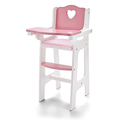 Molly Dolly Mini My First Dolls Wooden High Chair - inexpensive UK light shop.