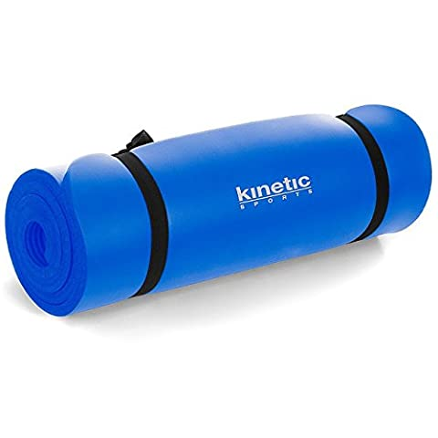 Kinetic Sports YM01 Yoga mat 190 x 60 cm, 15mm thickness, Blue