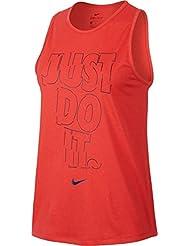 Nike W Nk Dry Tank Tomboy Grx Camiseta sin Mangas, Mujer, Naranja (Max Orange / Binary Blue), S