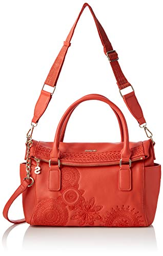 Desigual Damen Bag Dark Amber Loverty Women Henkeltasche, Rot (Carmin), 9x24x29.5 cm