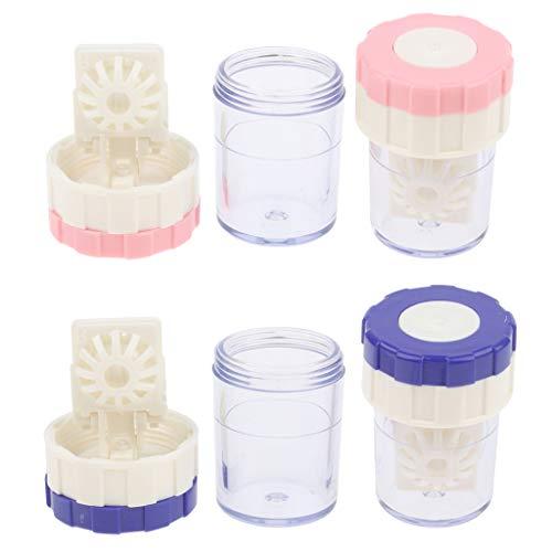 4er Set Manuell Kontaktlinsen-Reiniger Washer Reinigungslinse-Kasten-Werkzeug für Objektiv Tägliche Pflege