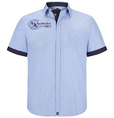 Jan Vanderstorm Herren Streifen-Hemd Balsa Farbe Hellblau-Weiß-Gestreift Größe 45/46 (XXL)