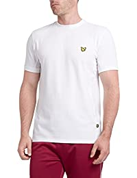 Lyle & Scott Strachan – Camiseta para Hombre, Blanco (Z166 Solid White), XL