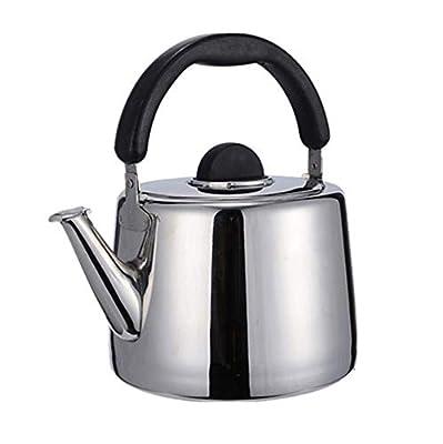 sifflante bouilloire à thé, 2–6L cuisinière Théière Teakettles avec acier inoxydable 18/8, disponible pour gaz/Induction/électrique/céramique/halogène/poêle à bois