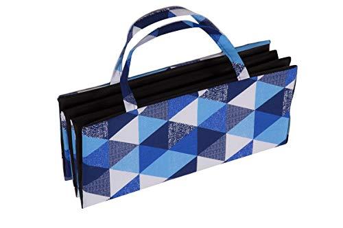 Ferocity Faltbare Strandmatte Liegematte mit Tragegriff Schaumstaff Strapazierfähig Decke Modell 6 Blaue Dreiecke Muster [061]