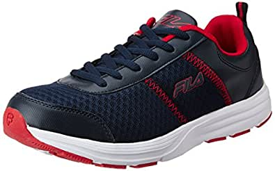 Fila Men's Ormanno Black Red Running Shoes - 6 UK/India (40 EU)
