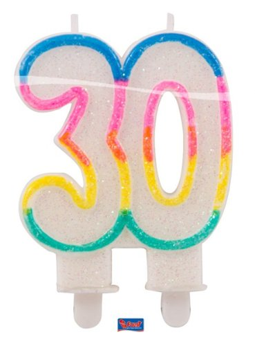 Folat Glitter Vela 30Cumpleaños, Aniversarios
