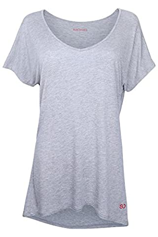 Womens Loose Fit Yoga Gym Training T-Shirt by Ethical Activewear Designer Sundried Relaxed Baggy Ultra Soft Luxury (Medium)