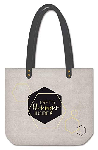 pper Damen | Tasche | Shopping-Bag | Leinen | grau gold | Pretty things inside ()