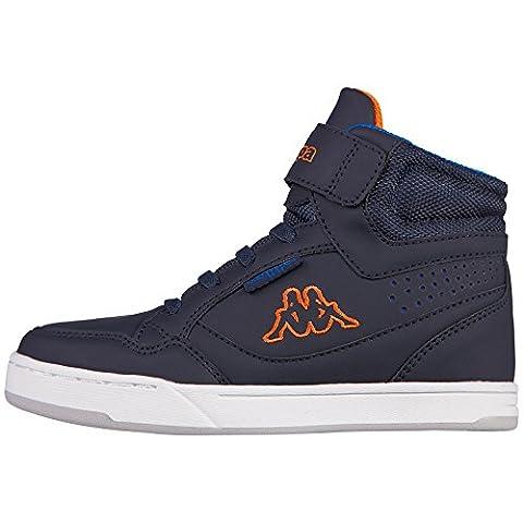 Kappa Forward Mid, Baskets Basses Mixte Enfant, Bleu (6744 Navy/Orange),