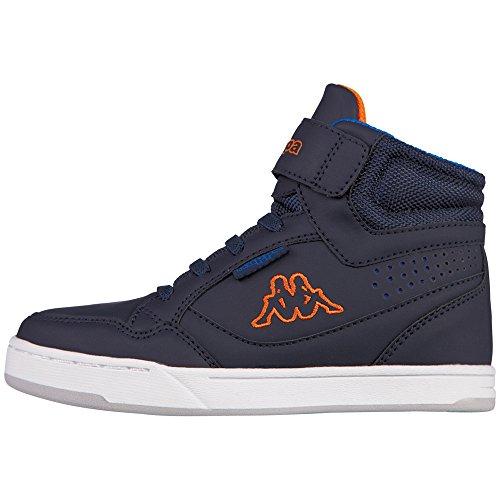 Kappa forward mid, sneaker a collo alto unisex-bambini, blu (navy/orange 6744), 31 eu