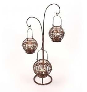 Morocco - Metal Triple Hanging Candle / Tea Light Lantern