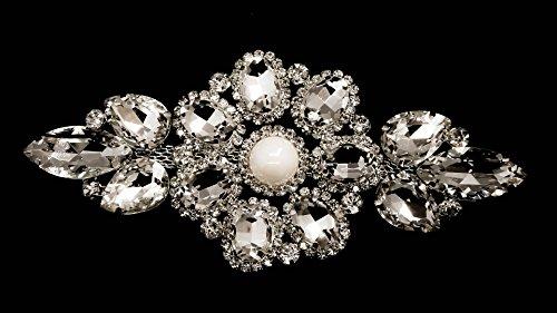 Strassstein Motiv Strass Kristalle Zum aufnähen Applikation Flicken - Perfekt für Hochzeit Braut Kleid, Freizeit oder Formelle Bekleidung Mode-accessoires 125mm x 60mm (ca.) Patch Nr. A501