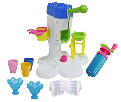 emma eismaschine Peipeile Eismaschine groß für Play Doh Kinderknete, Viel Zubehör, Eisdiele Spielen