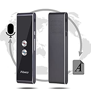 Aibecy Real-time Multi Language Translator Speech/Text Translation Device with APP for Business Travel Shopping English Chinese French Spanish Japanese Arabic